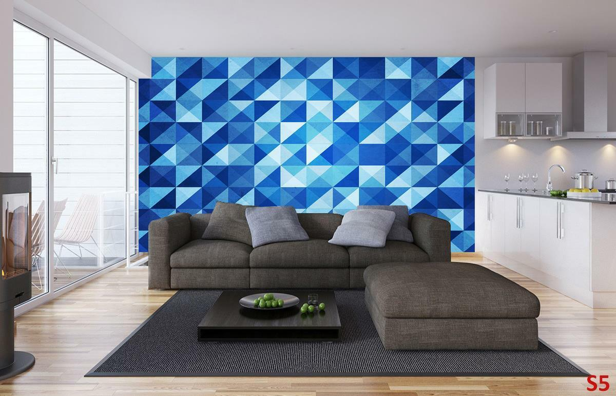 Illusion Farbe Pattern Pattern Pattern Photo Wallpaper Woven Self-Adhesive Wall Mural Art M102 81d241