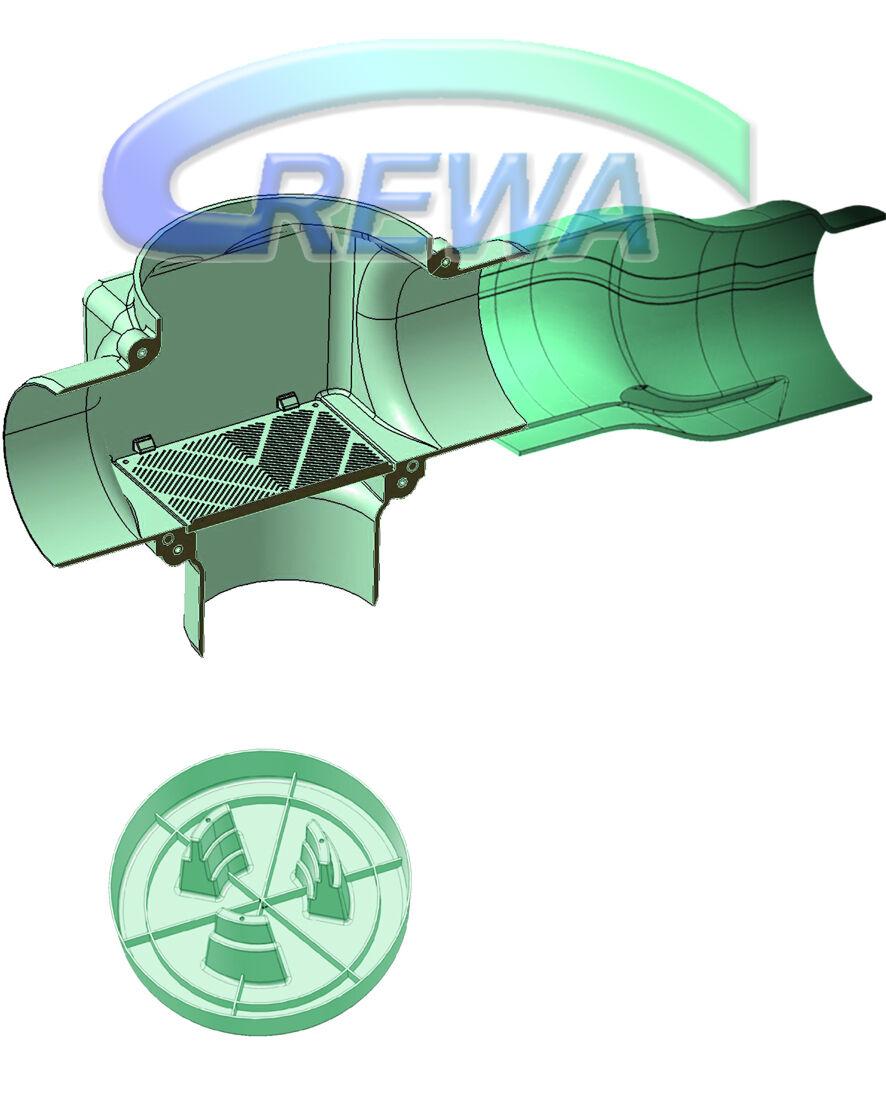 Río Rewa zisternenfilter set f-100l con kunststoffspaltsieb, skimmer y zulauftopf