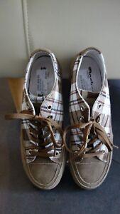 outlet store fa053 7101a Details zu Dockers by Gerli Damen Sneaker Gr. 37 braun weiß kariert