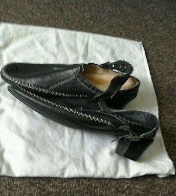 Nuevas señoras para mujer Negro Charol Sandalias Zapatos Talla 6