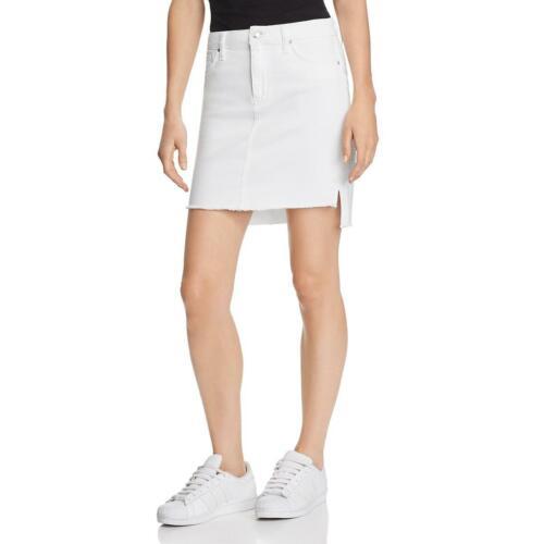 Joe/'s Jeans Womens White Pencil Frayed Hem Daytime Denim Skirt 24 BHFO 0476