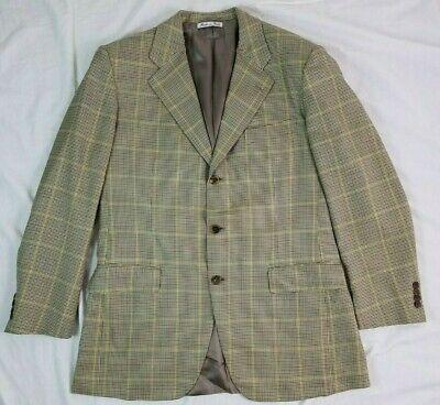 DAVIDE CENCI Mens Sport Coat 42R ITALY Silk Wool 110s Houndstooth Windowpane | eBay
