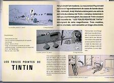 Tintin. Livret promotionnel pour LES TOILES PEINTES DE TINTIN. 1994