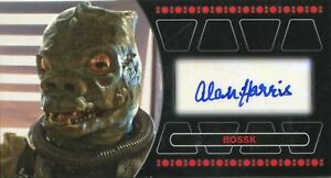 Details About Star Wars Return Of The Jedi 3d Autograph Card Alan Harris As Bossk