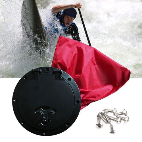 6 /'/' Deckplatte mit Aufbewahrungstasche Hatch Cover Kit für Marine Boat Kayak
