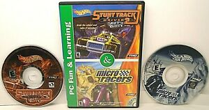 2-Hot-Wheels-PC-Fun-amp-Learning-CD-ROM-Games-STUNT-TRACK-DRIVER-2-amp-MICRO-RACERS