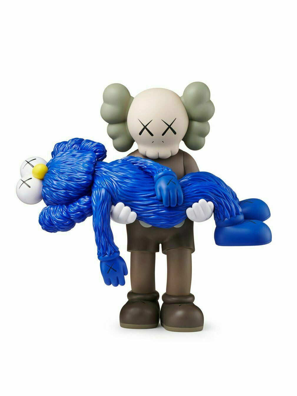Kaws Gone Companion BFF Vinyl cifra Marronee blu  IN He  SOLD OUT