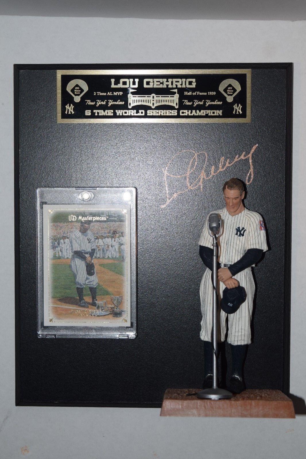 McFarlane Lou Gehrig Cooperston Series 7 New York Yankees  Plaque Card