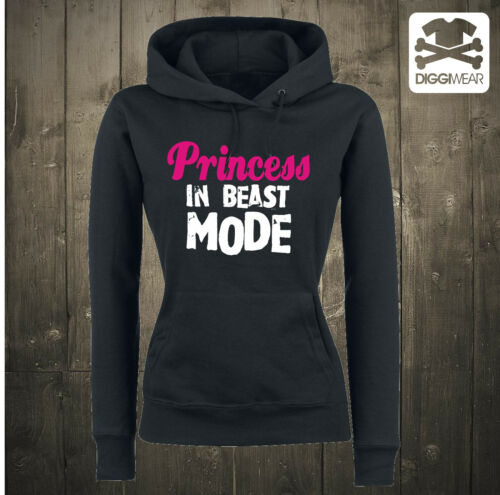 Princess in beast modeGymBIG Sporty ButtHoodie con Cappuccio Pullover XS-XXL