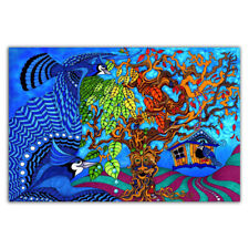 W985 Blacklight Paintings Psychedelic Abstract Trippy Art Silk Poster