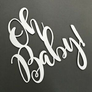 Details About Oh Baby Any Colour Baby Shower Wooden Sign Plaque Flower Wall