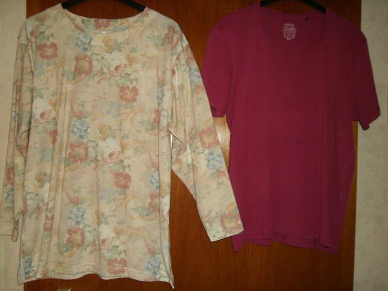 1xporto+2 Teile Dament-shirt Langarm Pastellfarben Gr. M+t-shirt Fuchsia Gr.44 VerrüCkter Preis