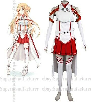 Sword Art Online Asuna Yuuki Dress Cosplay Costume #07