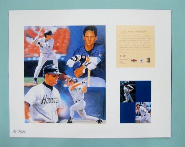 Jeff Bagwell & Craig Biggio Houston Astros 1997 MLB Baseball 11x14 Lithograph
