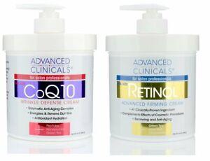 Advanced-Clinicals-Retinol-Cream-COQ10-Cream-Skin-Care-Set-of-2-16oz-Jars