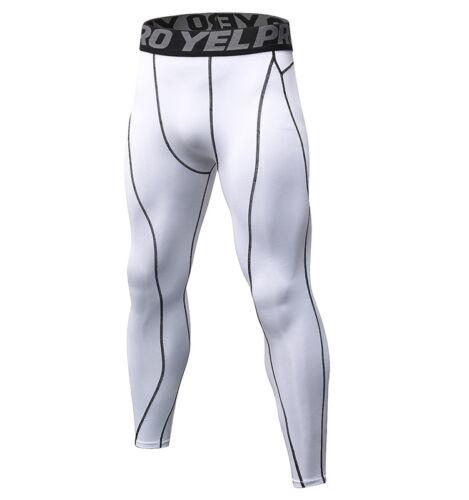 Mens Compression Pants Athleticc Base Layer Running Basketball Tights Spandex