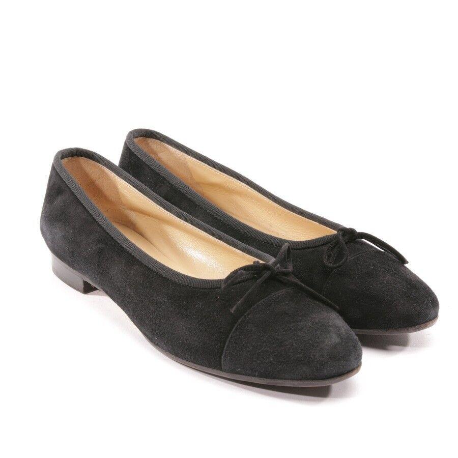 UNÜTZER Ballerinas Gr. Damen D 39 Schwarz Damen Gr. Schuhe Schuhes Flats Suede Halbschuhe 67f0ff