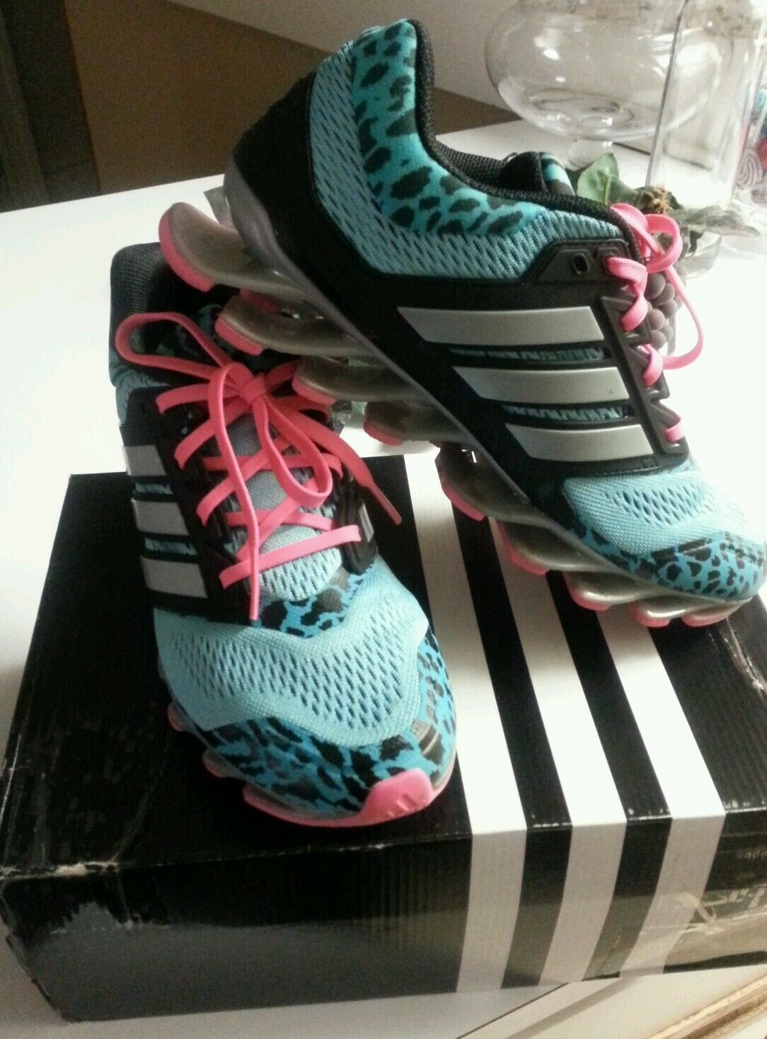 Womens adidas springblade mint pink running shoe 7.5 New shoes for men and women, limited time discount