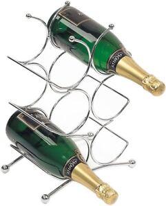 RTA-6-Bottle-Silver-Chrome-Metal-3-Tier-Wine-Rack-Freestanding-Countertop