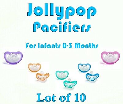 JollyPop Pacifier 0-3 Month Pick Your Color /&//or Scent Baby Soothie Gumdrop 10