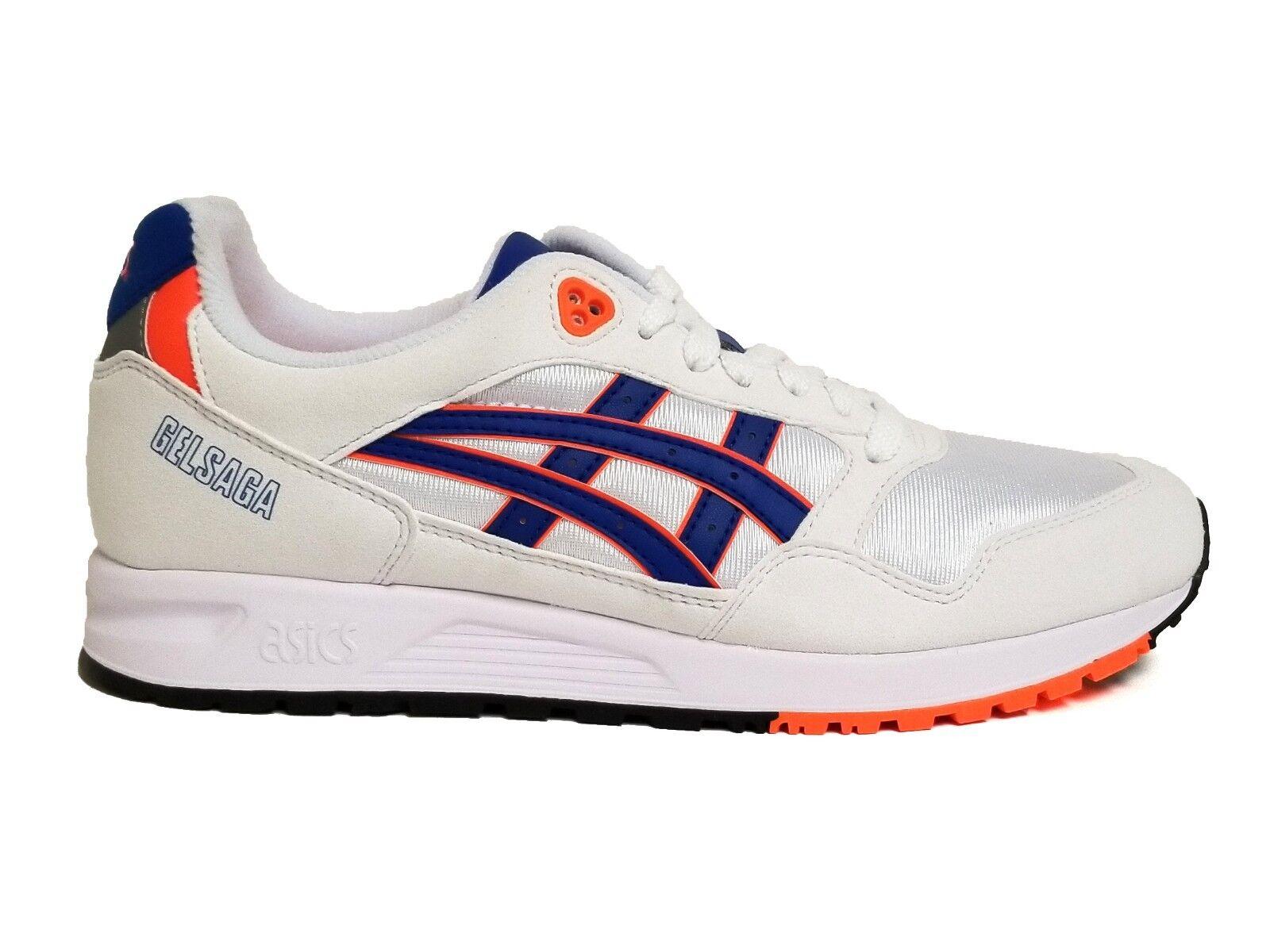 Asics Men's GEL SAGA SUMMER PACK Shoes White/Asics Blue 1193A071-101 c