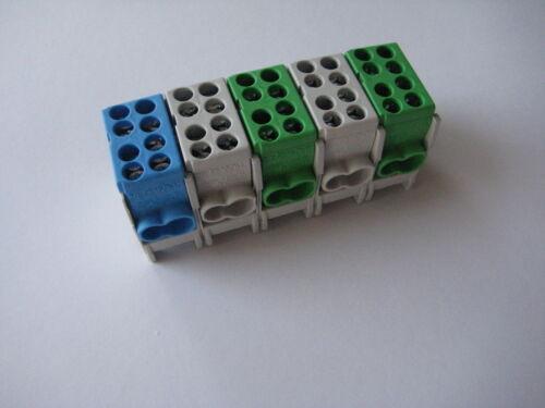 1pol Hauptleitungs abzweigklemme grün grau blau braun schwarz anreihbar Pollmann