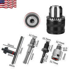 12 Heavy Duty Rotary Hammer Drill Chuck Adapter 15 13mm Thread Withsds Plus Kit