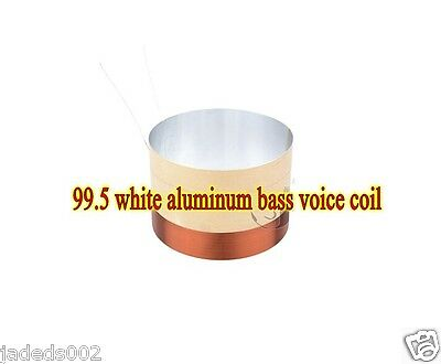 1pcs 99.5mm 8 ohms White aluminum bass voice coil speaker drive voice coil