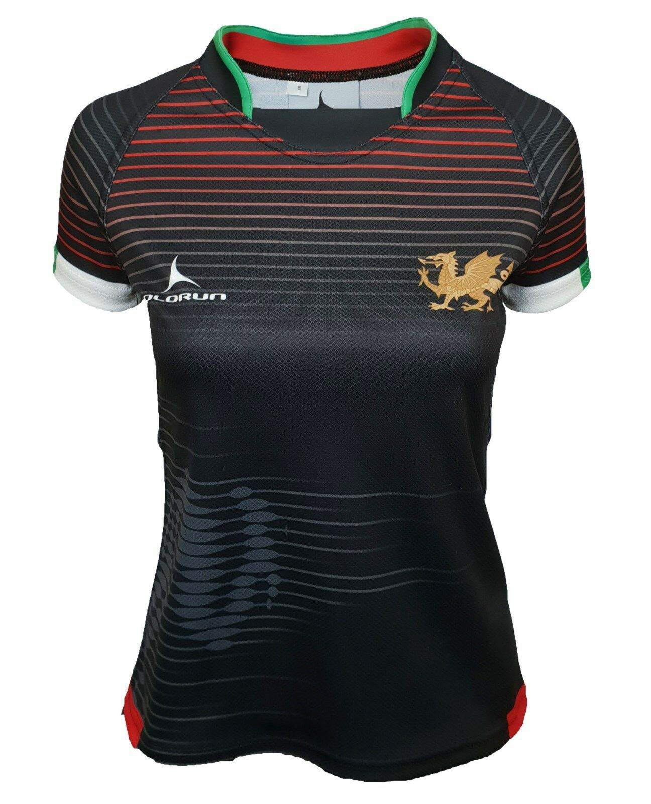 Olorun Wales Contour Home Nations Ladies Away Rugby Shirt 8 - 22