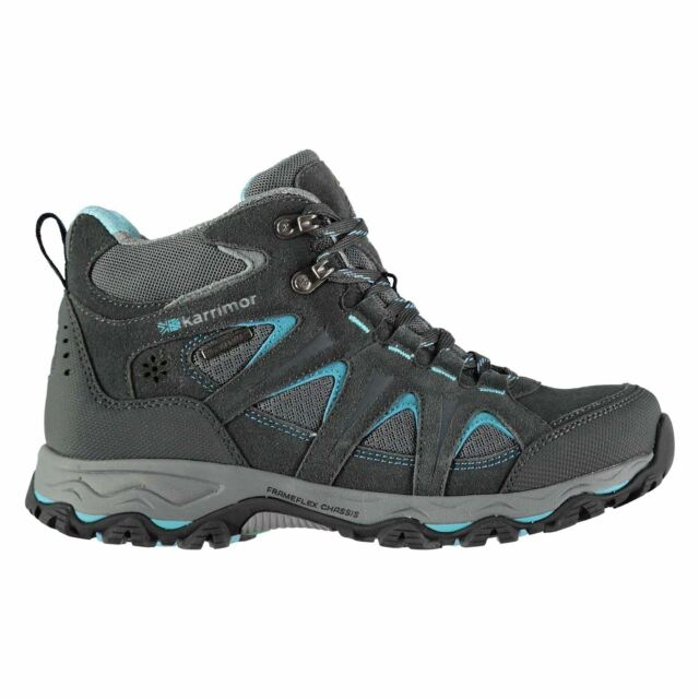 New Ladies Branded Karrimor Breathable Mountain Mid Top Walking Boots Size 3-9