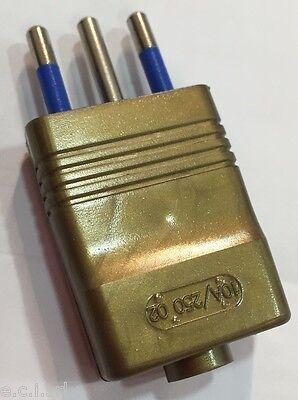 8007//M SPINA 2P+T 10A VOLANTE PIATTA MARRONE