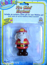 Webkinz Fire Chief ELEPHANT Figure w/code 4 Online Play!  US Seller FREE SHIP
