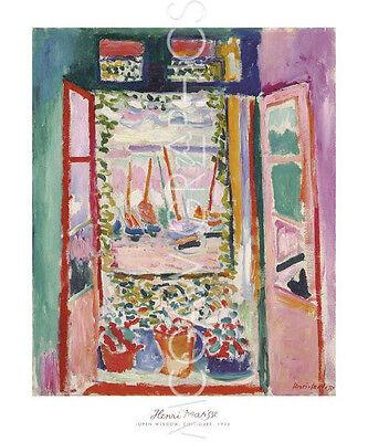 "MATISSE HENRI - THE OPEN WINDOW, COLLIOURE, 1905-ART PRINT POSTER 24""X20"" (1586)"