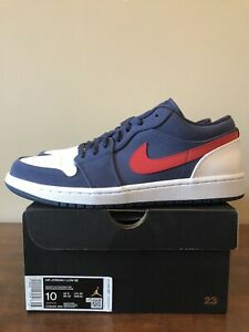 Details about Nike Air Jordan 1 Low SE USA Navy Red White Size 10 Brand New In Box!!!