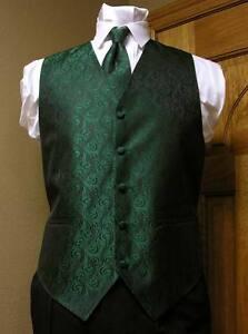 Vest Emerald Green Full Back Neck Tie Imperial Tuxedo