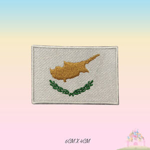 Cyprus National Flag Embroidered Iron On Patch Sew On Badge