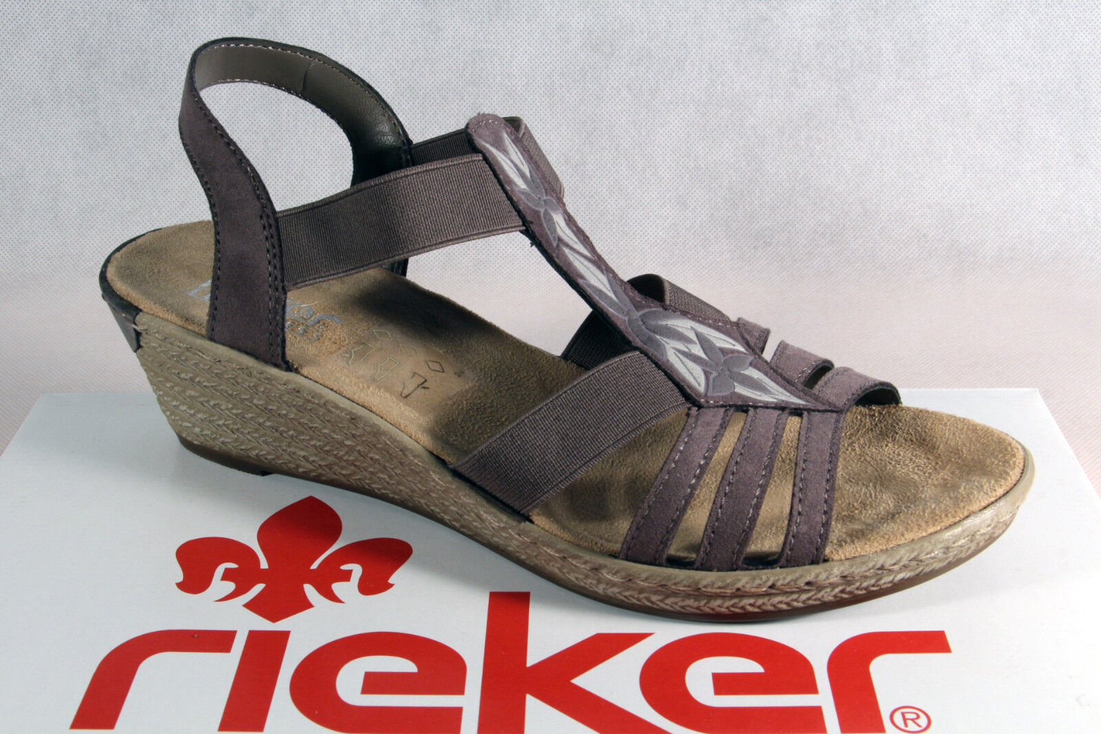 Rieker Ladies Sandals Ankle-Strap Sandal Grey 62411 NEW