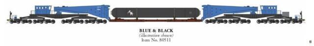 Bachmann 80511 HO Schnabel Car with Load Blue & Black