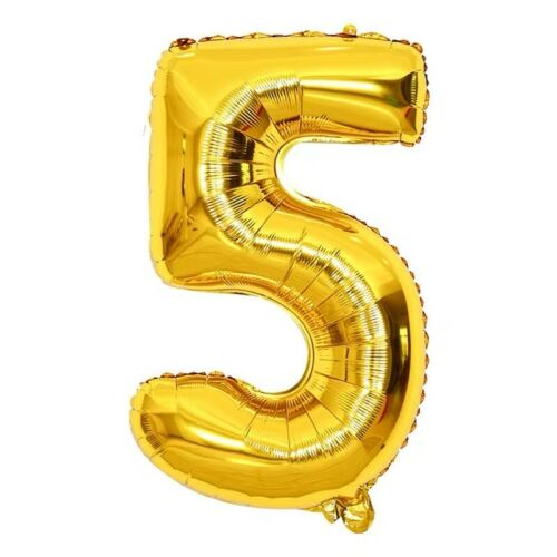 """Reusable 16/"""" Birthday Party Gold Number Foil Balloon Self Inflating Air Baloon"""