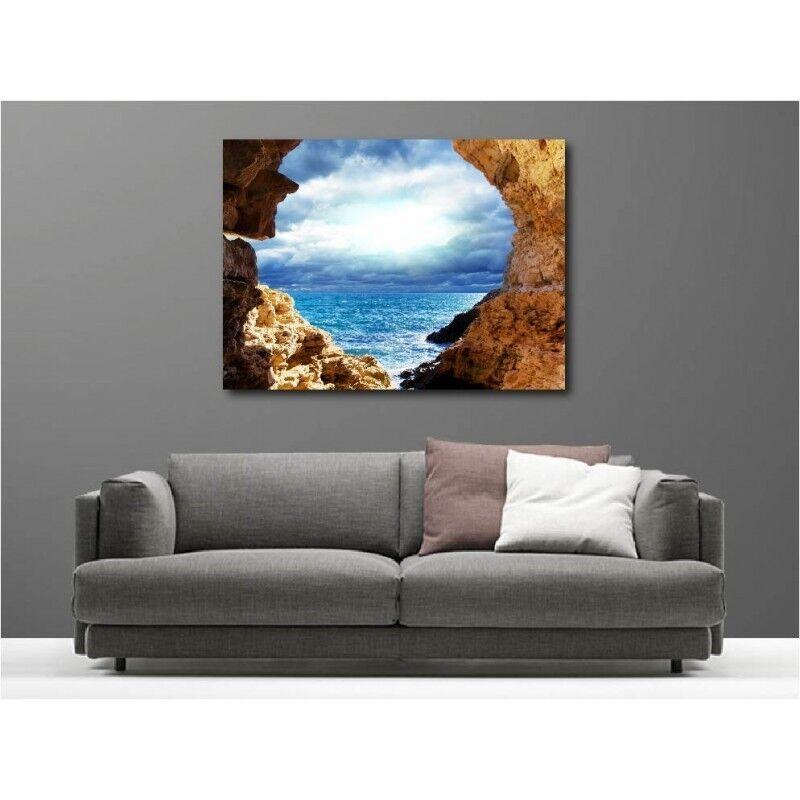 Tableaux toile déco rectangle rocher vue sur la mer mer la 51899875 7202d9