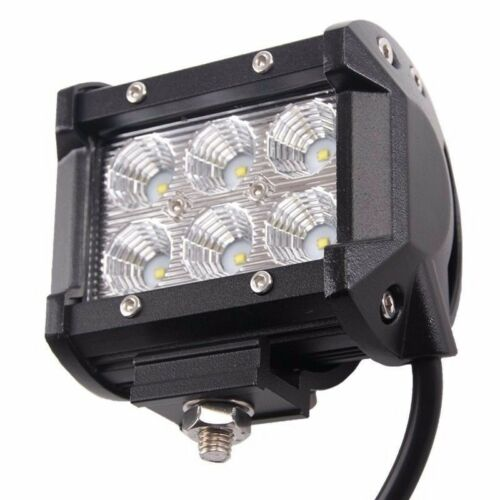"""2X 4/"""" 18W PODS OFFROAD SUV 4WD ATV FORD JEEP 52Inch 300W LED Light Bar Combo"""