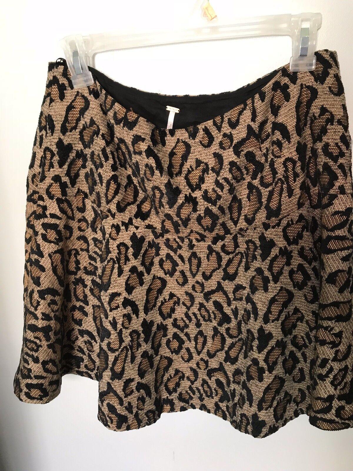 Free People Leopard Skirt -Size 10