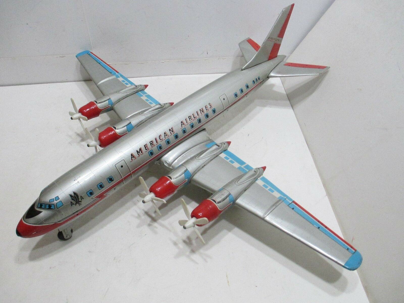 AMERICAN AIRLINES ELECTRIC FLAGSHIP LARGE 24  WING SPAN EXCELLENT + MADE N JAPAN