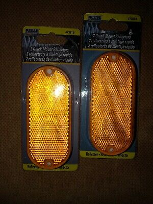 2 Pack Reese Towpower 73820 Red Quick Mount Reflector
