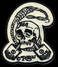 Skull and Pistons patch Roth '67 Love Hate Tattoo Hot Rod Motorcycle chopper