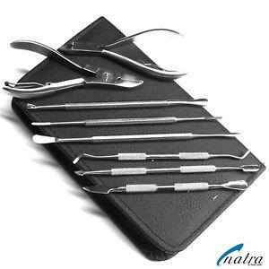 Nagelpflege-Geschenk-Set-Nagelzange-Fusspflege-Nagelhautschieber-Nagelpflegeset