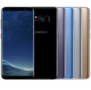 Samsung Galaxy S8 SM G950FD Dual Sim FACTORY UNLOCKED Black Gold Gray Blue