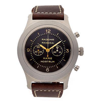 Panerai Mare Nostrum Titanio Limited Edition Mens Hand-Wound Strap Watch PAM 603