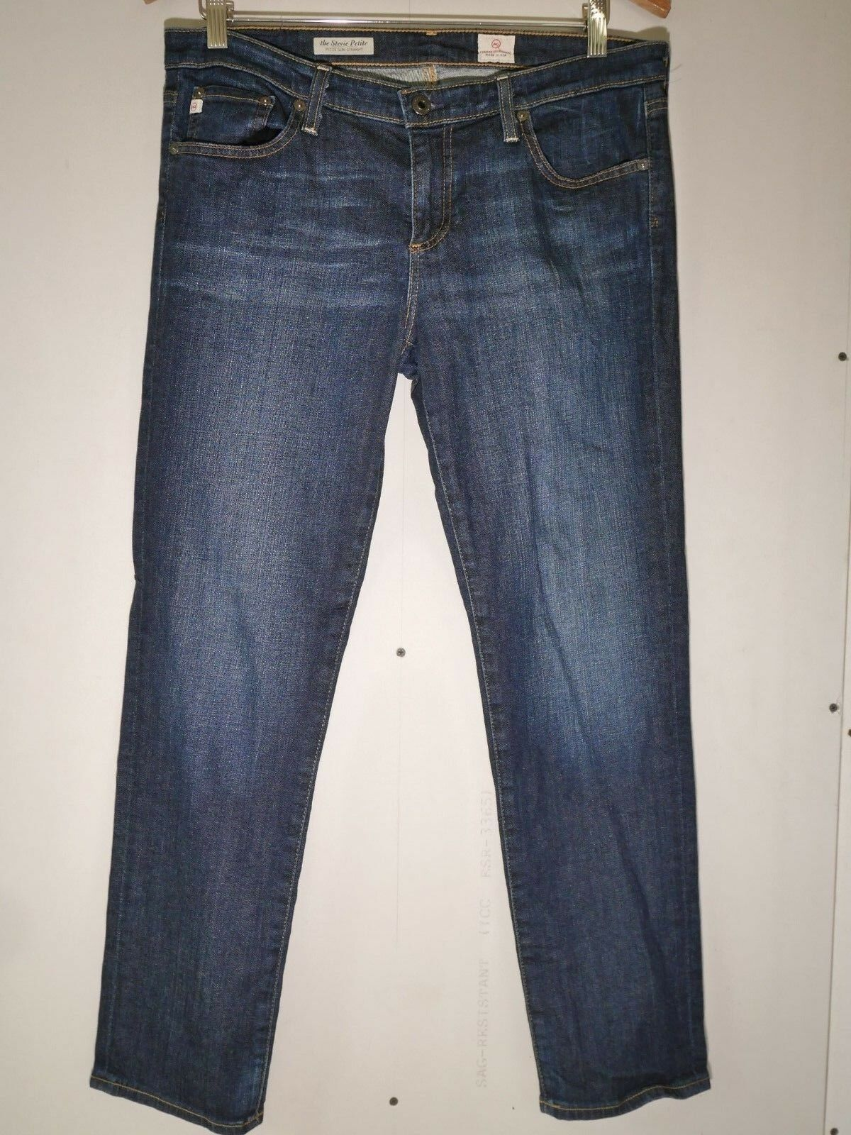 AG Jeans - the Stevie Petite - Petite Slim Straight Jean Dark Wash Size 32R