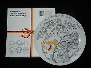Rosenthal-Satire-Plate-06-Franz-Josef-Strauss-Germany-Braucht-Bavaria-3608